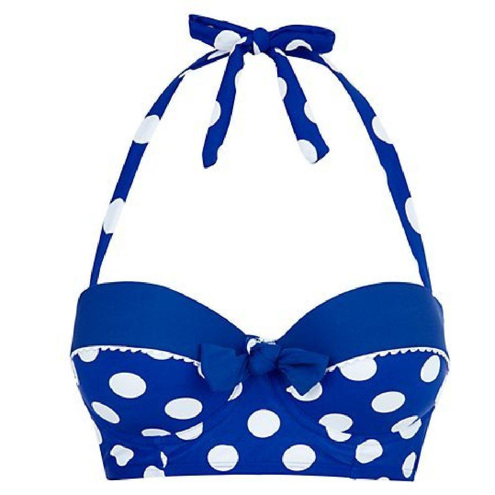 5411b00bff Kelly Brook s Blue Spot Longline Bikini from New Look  We Love
