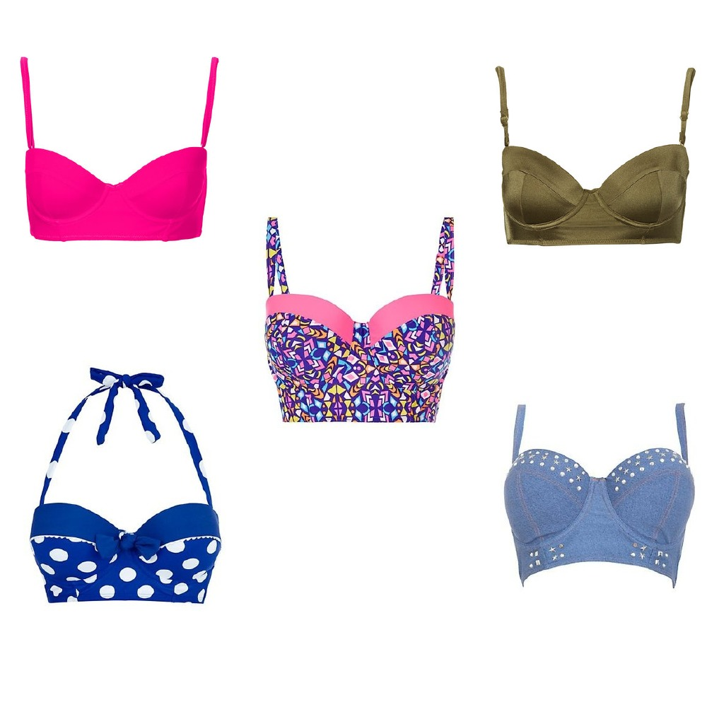 fbe70d1301 The longline bikini top provides extra support