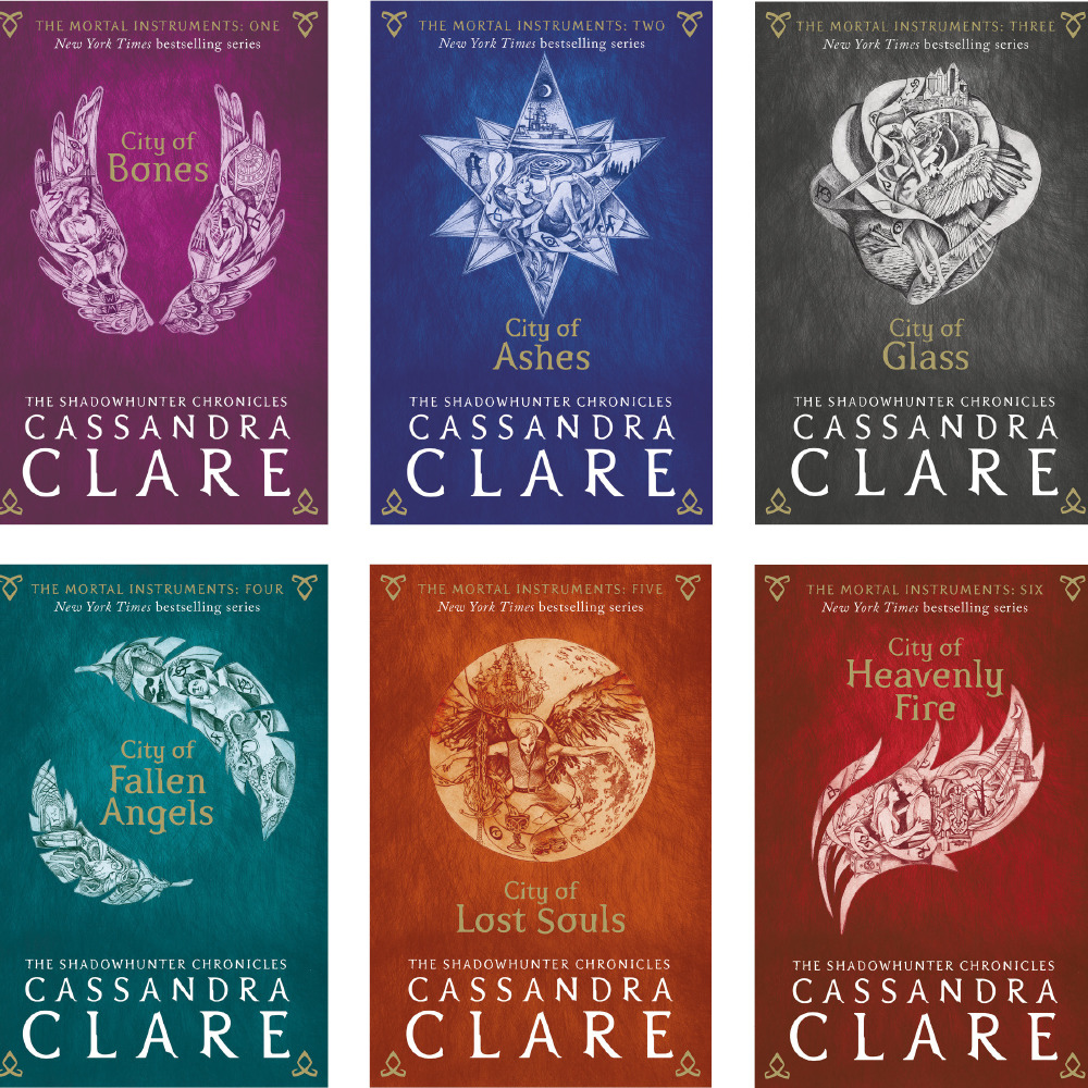 New Mortal Instruments book covers