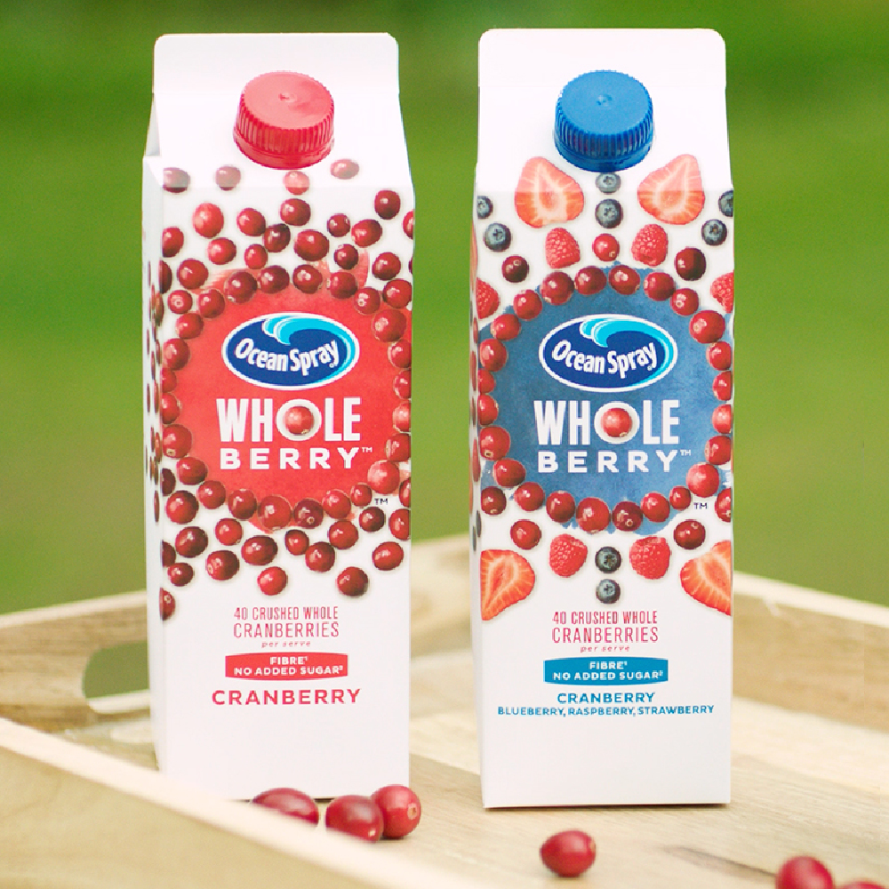 Ocean Spray Whole Berry- Tesco (from 16th October), Sainsbury's, Waitrose, Asda, Co-Op and Booths (850ml, RRP £2.99).
