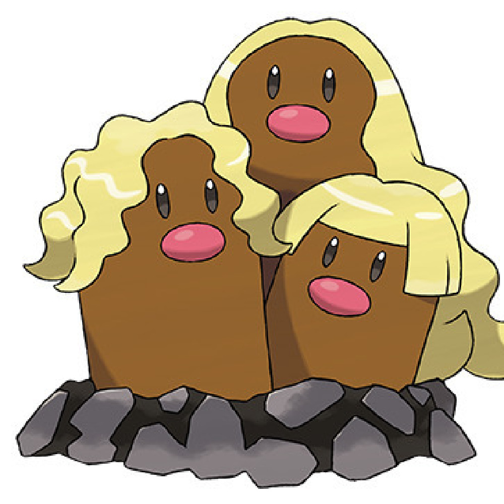 Alola's Dugtrio / Credit: The Pokémon Company