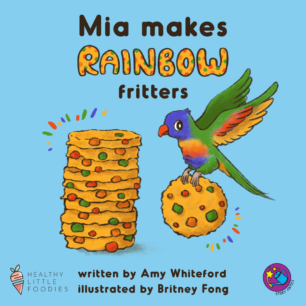 Mia makes Rainbow Fritters