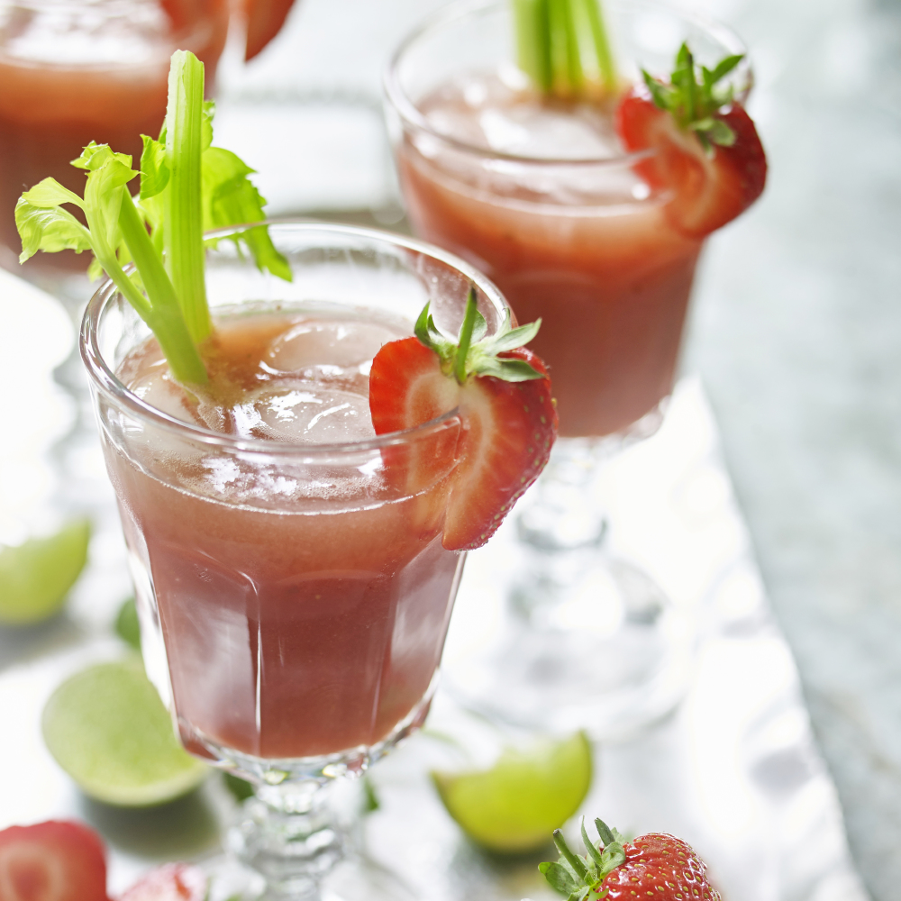 Strawberry, Cucumber And Mint Crush
