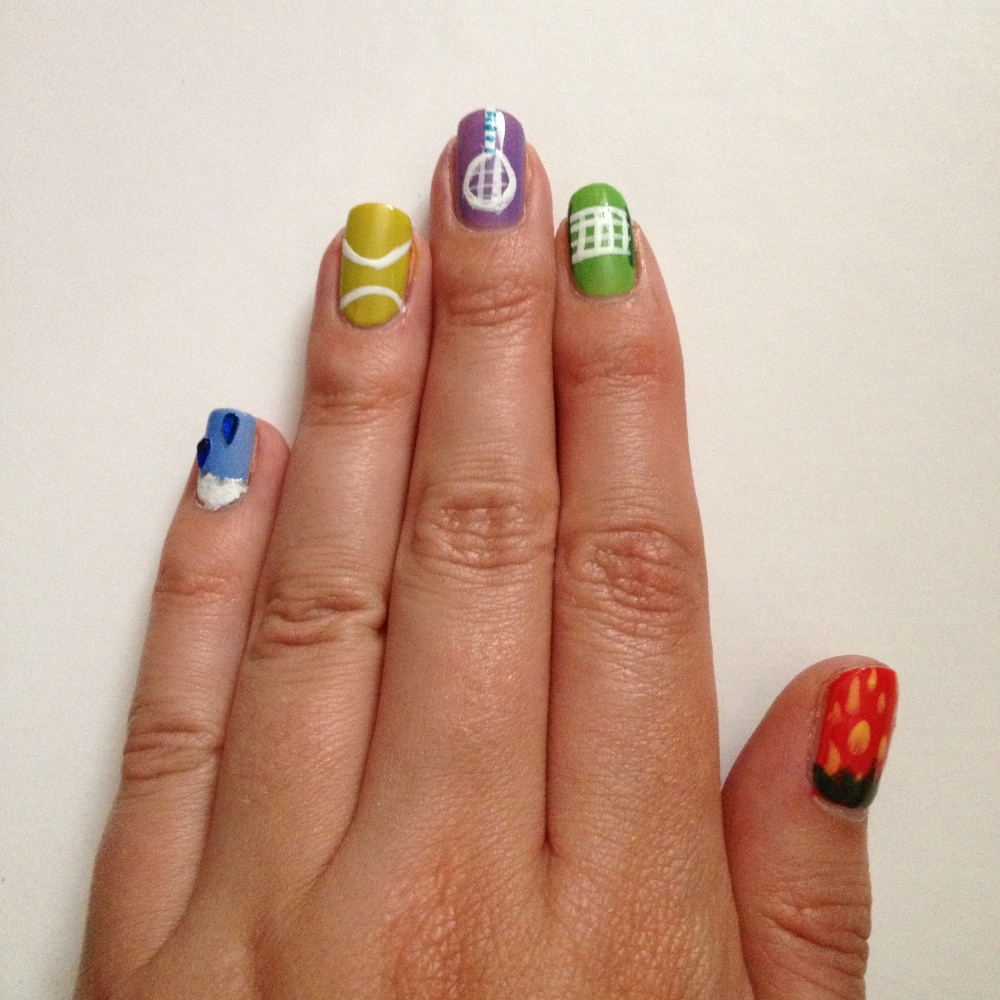 Wimbledon nail art how to prinsesfo Images