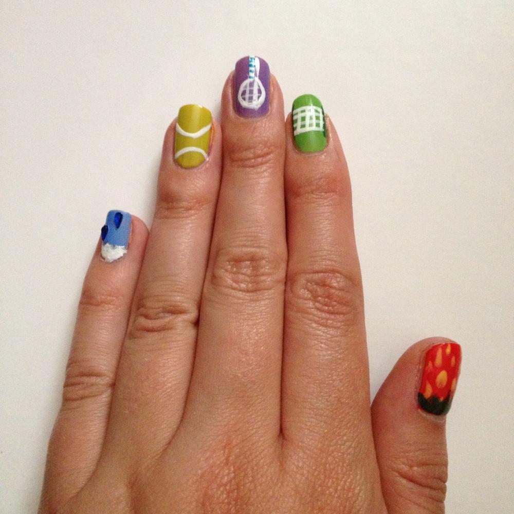 Wimbledon nail art: How to