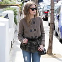 Olivia Palermo looks chic in her leopard print ballet pumps