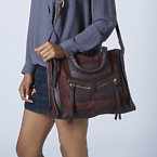 Topshop Smart Suede and Leather Holdall