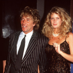 Rod Stewart and Rachel Hunter (Credit: Famous)