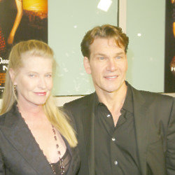 Patrick Swayze and wife Lisa (Credit: Famous)