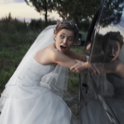Taking the bride to her venue when the wedding car didn't show