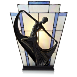 Tiffany Style Handcrafted Waltz Novelty Lamp