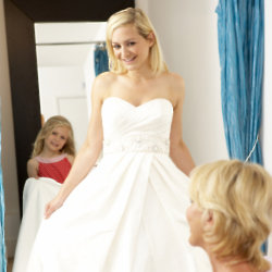 Mums are often at the wedding dress fittings