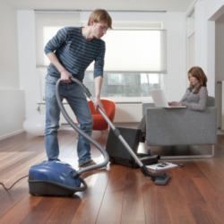 Man hoovering- have you seen this before?