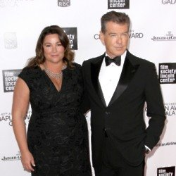 Pierce Brosnan and Keely Shaye Smith (Credit: Famous)