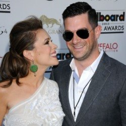 Alyssa Milano and David Bugliari (Credit: Famous)