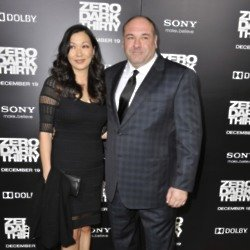 James Gandolfini and Deborah Lin (Credit:Famous)