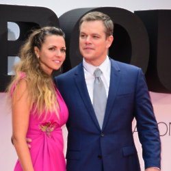 Matt Damon and Luciana Bozán Barroso (Credit: Famous)