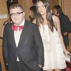 Alber Elbaz and Demi Moore