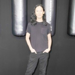 Alexander Wang at the launch party of the collection