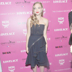 Amanda Seyfried wears denim Givenchy