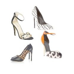 Animal print shoes will add spice to your look