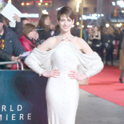 Anne Hathaway chose a beaded Givenchy dress