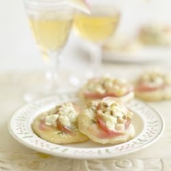 Pink Lady Apples Feta and Pine Nut Pizzas