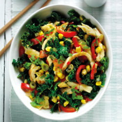 Asian Chopped Omelette With Kale & Peppers