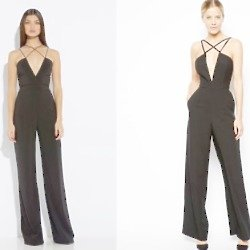 The AQ AQ and ASOS jumpsuits are incredibly similar