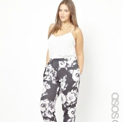 ASOS CURVE Exclusive Peg Trouser In Shadow Floral – We Love