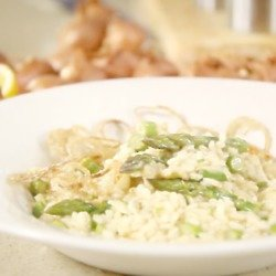 VIDEO: Asparagus and Shallot Risotto Recipe