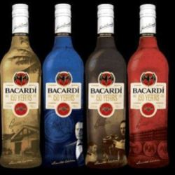 Limited Edition 150 Year Celebration Bottles Of Bacardi