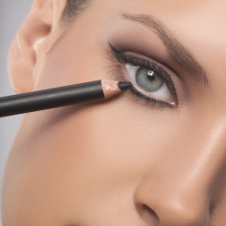 Apply eye make-up as you move around