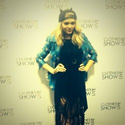 Becca Dudley was looking stylish at the Clothes Show Live
