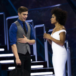 Evictee Mark Chrysler with host Arisa Cox / Credit: Global TV
