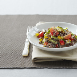Black quinoa with cherry tomatoes