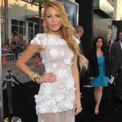 Blake Lively wears a white Chanel Couture