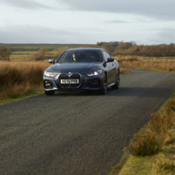 Patrick Grant driving a stylish BMW 4 Series Coupe on his favourite Sunday drive