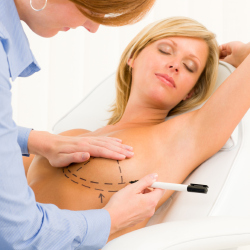 Breast implants cause shadows on mammograms