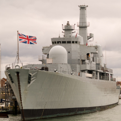 British Naval Ship