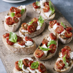 Bruschetta With Slow Roasted Tomatoes