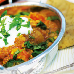 Butternut, Lentil and Chickpea Dhal
