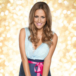 Caroline Flack lifts Strictly Come Dancing glitterball