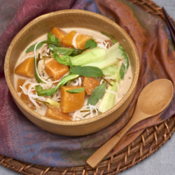 Vegan Pumpkin, Galangal And Coconut Soup