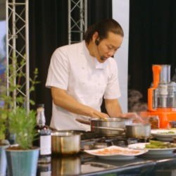 VIDEO: Chef Jun Tanaka at the Foodies Festival