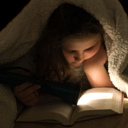 It might not be such a good idea to let your child read one before bed time