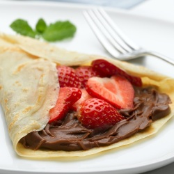 Pancake Day Recipes: Choccy Philly Strawberry Pancake