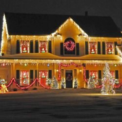 Be safe when decorating your house and garden this Christmas