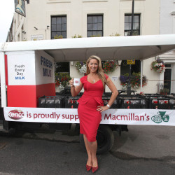 Claire Sweeney hosted The World's Biggest Coffee morning
