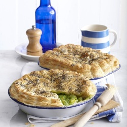 British Pie Week: Creamy Fish and Spinach Pie
